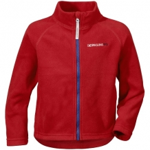 Didriksons Monte kinder fleece vest in rood
