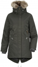 Lindsey dames parka - donkergroen - didriksons